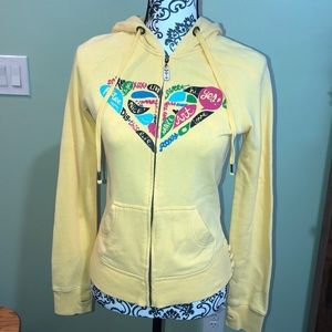 Women's roxy hooded zip up size small